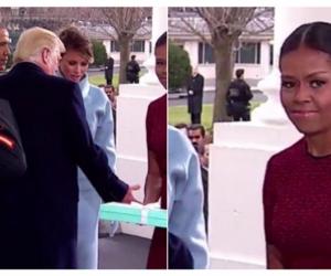Доналд Трампын тангараг өргөх ёслолын үеэр Мишель Обамагийн гаргасан царай трэнд болж байна