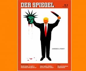 Эрх чөлөөний хөшөөний толгойг авсан Трампын зурагтай Spiegel сэтгүүл гарчээ
