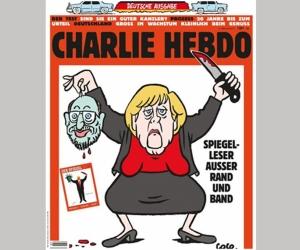 Францын сэтгүүл Меркелийг шоглов