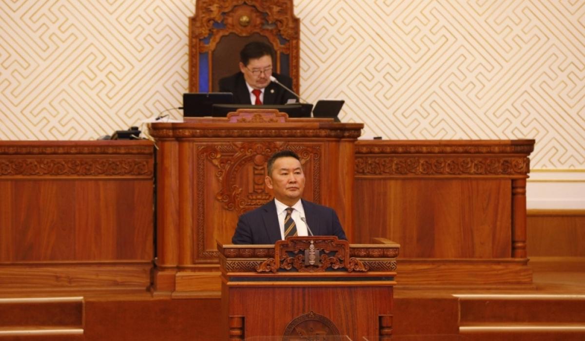 Ерөнхийлөгч Х.Баттулга ээлжит бус чуулган хуралдуулах санал хүргүүлэв