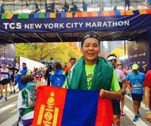 Олон улсын марафонд монгол залуу гуравдугаар байр эзэлжээ