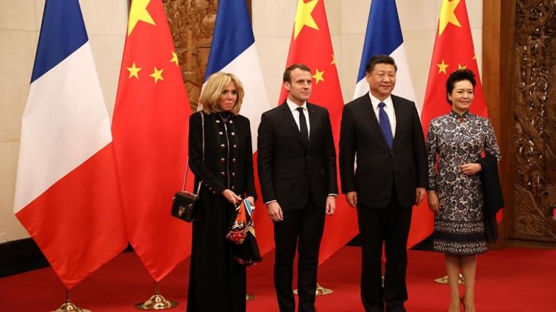 Францын ерөнхийлөгч Эммануэль Макрон БНХАУ-д айлчилж байна