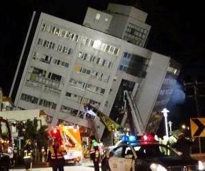 Тайваньд газар хөдлөлтийн улмаас 2 хүн амиа алдаж 100 гаруй хүн бэртжээ