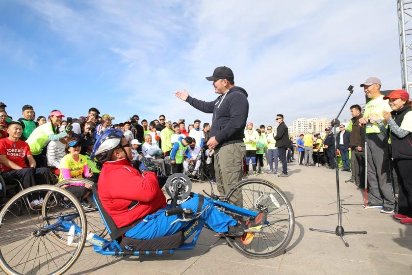 """Ерөнхийлөгч Х.Баттулга  """"Итгэл найдвар, боломж–Улаанбаатар 2019"""" марафоны нээлтэд оролцлоо"""