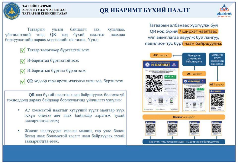 Бизнес эрхлэгчид QR кодоор НӨАТ-ын баримт олгоно