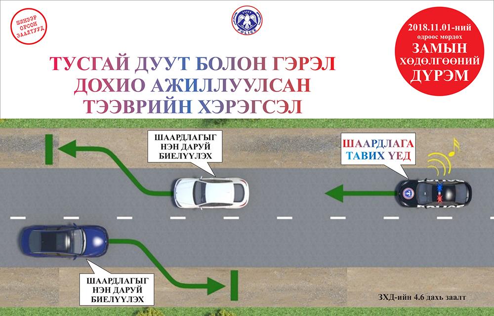 Замын хөдөлгөөний шинэчилсэн дүрэм