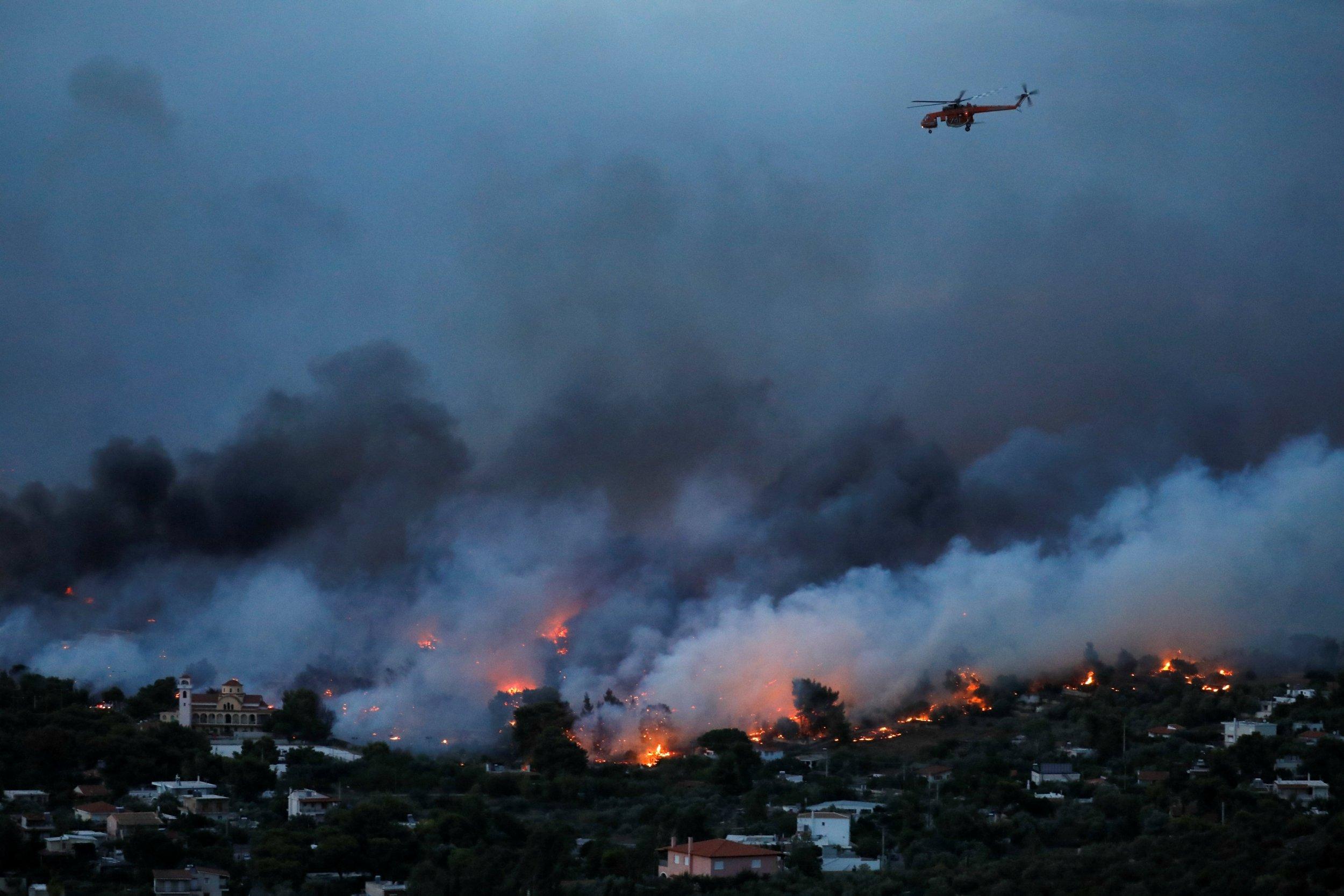 Грект ой хээрийн түймэр гарч, 83 иргэн амиа алдаад байна