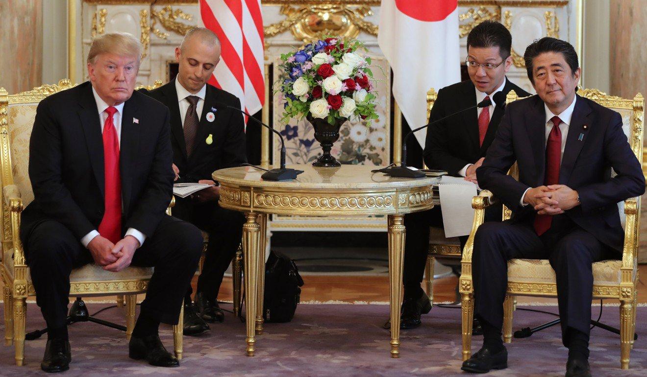 Д.Трамп Японы эзэн хаантай уулзав