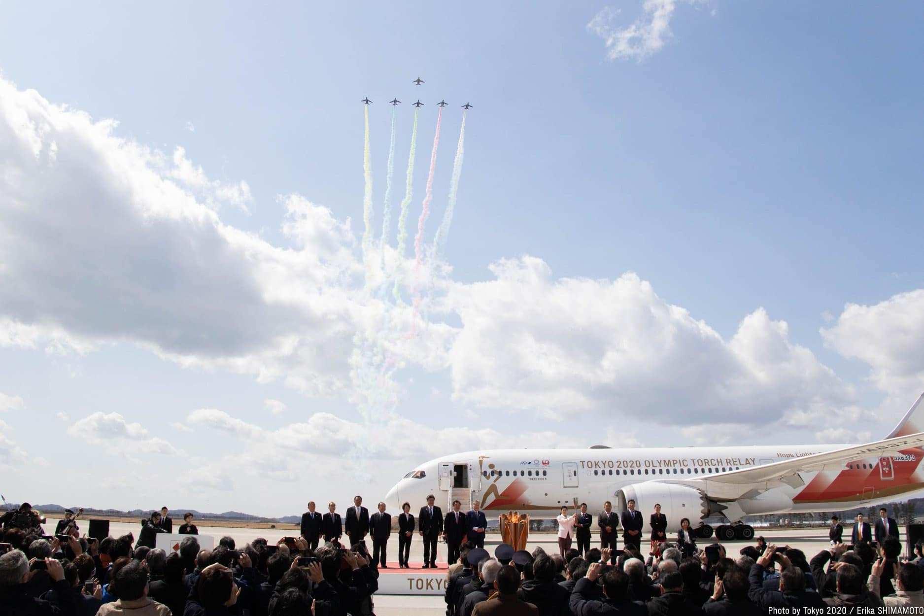 """Токио-2020"" олимпийн бамбар Япон улсад ирлээ"