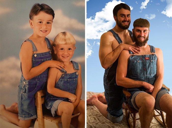 Хүүхэд насны зургаа эргэн сэргээсэн хөгжилтэй агшнууд